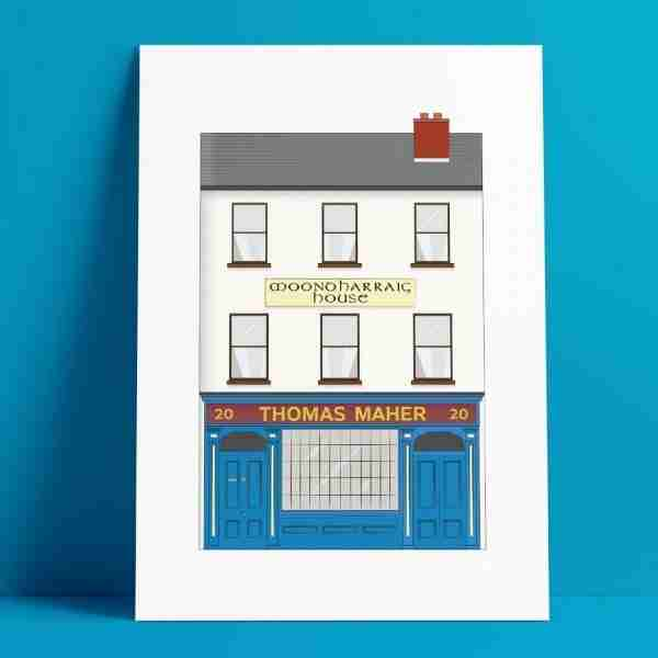 Tom Mahers Pub A4 Print