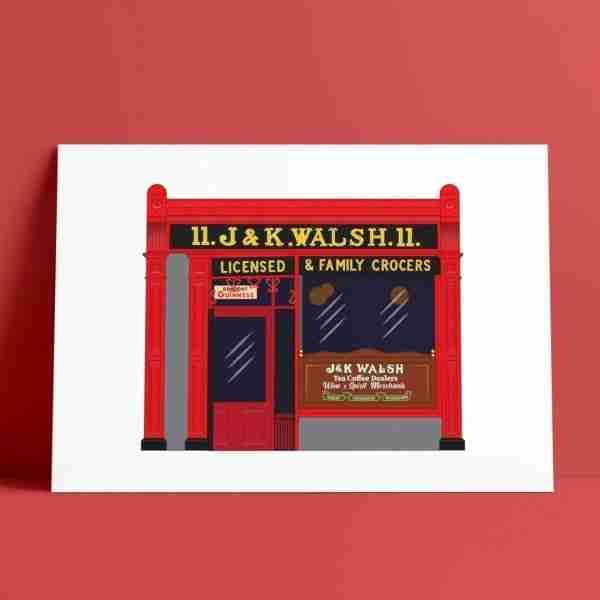 Walsh's Pub Print