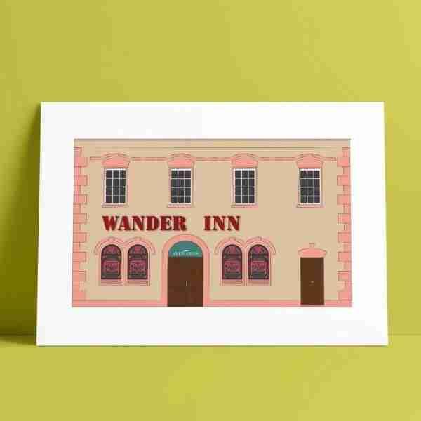 Wander Inn Pub A4 Print