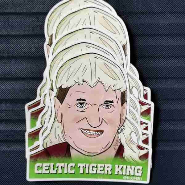 Celtic Tiger King sticker pack (6 stickers)