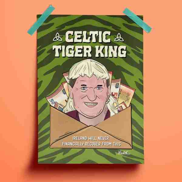 Celtic Tiger King Prints