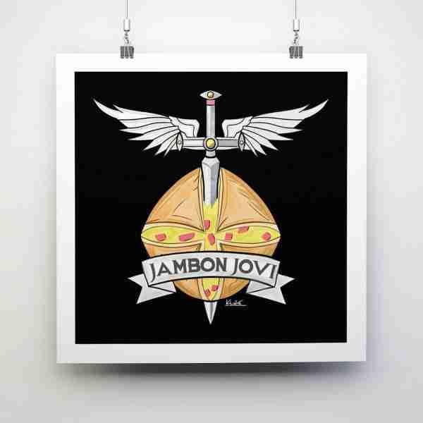 Jambon Jovi Square Print (30cm x 30cm)
