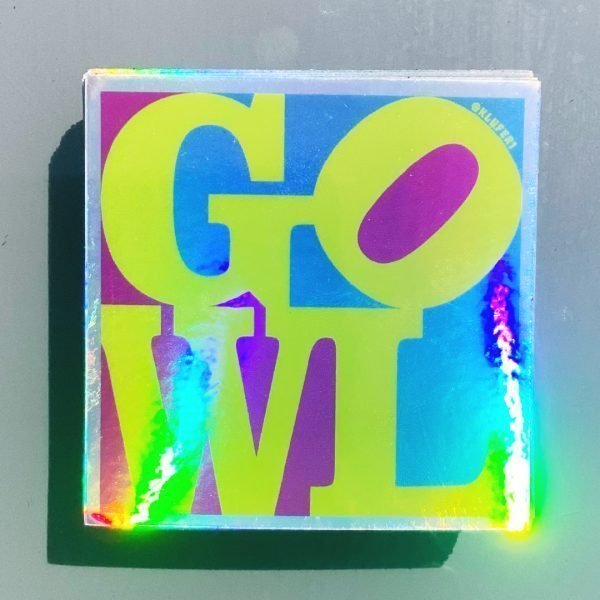 Holographic GOWL sticker pack (6 stickers)